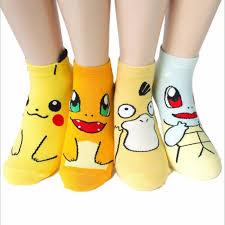 20 pcs = <b>10 pairs lot women</b> cotton japanese cartoon pokemon ...