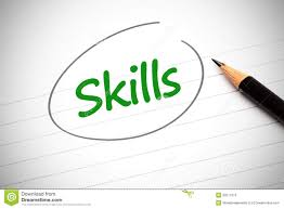skills word written in green on a notepad stock photos image skills word written in green on a notepad