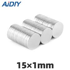 <b>AIDIY</b> 30/<b>50</b>/<b>100pcs</b> 15x2mm Neodymium disc magnets Super ...