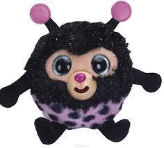 1toy мягкая озвученная игрушка дразнюка zooка божья коровка 13 см