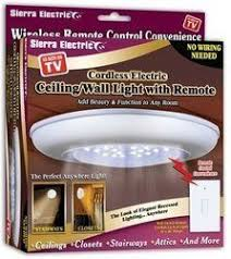 sierra tools battery operated ceilingwall light with remote paul lekakis home improvement battery operated lighting home lighting