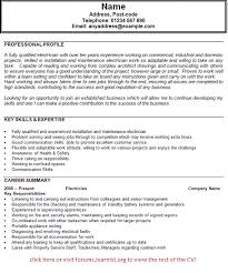 electrician cv example   job seekers forumsgood luck