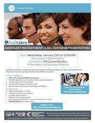 cancelled audtalent recruitment call center representatives audtalent recruitment bh 1 5 17