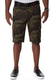 <b>Mens</b> Belted All Season Casual Tactical Cargo <b>Shorts</b> 12.5 Inch ...