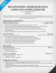 sample resume objectives for medical receptionist   resignation    sample resume objectives for medical receptionist medical receptionist resume sample cover letters and receptionist administrative assistant