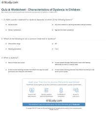 college essay dyslexia case study child dyslexia quiz amp worksheet characteristics of dyslexia in children study com
