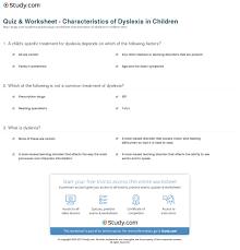 college essay dyslexia case study child dyslexia quiz amp worksheet characteristics of dyslexia in children study com