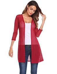 Grabsa <b>Women Summer Sheer</b> Lace Cardigan - Buy Online in ...
