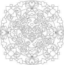 """Résultat de recherche d'images pour """"coloriage à imprimer mandala coeur"""""""