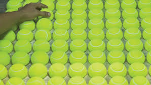 baseline out how tennis balls are made