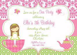 princess tea party birthday invitations invitations design girls princess tea party birthday invitations