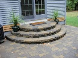 patio steps pea size x: steps stairs landings semicircle steps for when my deck has outlived its usefullness perhaps not slate but other stone