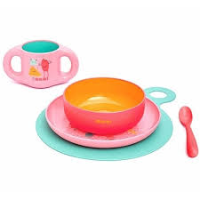 "<b>Набор посуды</b> ""BOOO"", <b>5 предметов</b>, розовый бренда Suavinex ..."