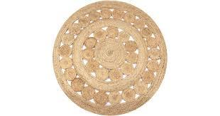 <b>Area Rug Braided Design</b> Jute 120 cm Round - Matt Blatt
