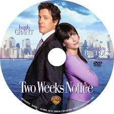 two weeks notice 2002 ws r1 movie dvd cd label dvd cover dvd covers