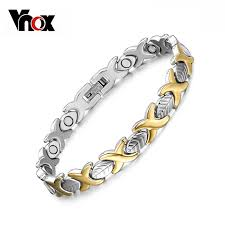 Vnox Elegant Health <b>Magnet Bracelet Bangle for</b> Women Stainless ...
