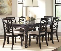black dinette sets  harlstern black dining set with turned legs