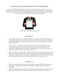 how to prepare resume experience samples of resumes how to make a resume for jobs no job experience resume examples
