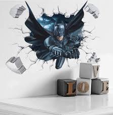 <b>Cartoon</b> Boy'S Hero <b>Batman Spiderman</b> Wall Sticker For Kids ...