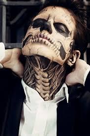 mens skull make up