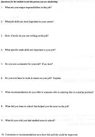 7th 8th grade job shadow day observation forms observation form page 1