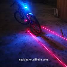 New Cycling Bike Bicycle <b>5 LED</b> 2 <b>Laser Beam</b> Rear Tail Light 3 ...