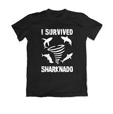 Caution Sharknado <b>Mens Printed</b> T-Shirt Casual <b>Crew Neck</b> Short ...