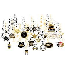 Amosfun 30pcs 2020 New Year Hanging Swirl ... - Amazon.com