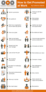 infographic how to get promoted at work catherine s career according to career guru donald asher advancement at work is less about skill sets and more about strategy his book who gets promoted who doesn t