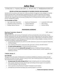 Regional Sales Manager Resume  resume template regional sales