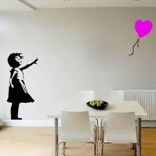 liberty bedroom wall mural: banksy girl colour balloon large bedroom wall mural transfer art sticker vinyl home decor wall sticker
