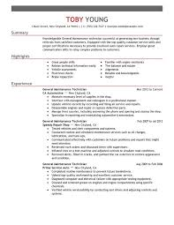 unforgettable general maintenance technician resume examples to general maintenance technician resume sxample