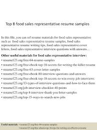 topfood srepresentativeresumesamples lva app thumbnail jpg cb