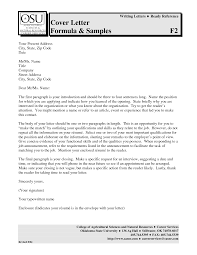 cover letter format template cover letter format