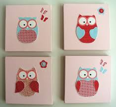 wall decals kids bedroom childrens room items similar to handmade owl canvas baby or girl room decor picture a