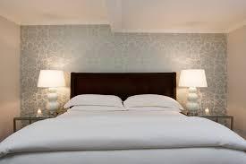 room elegant wallpaper bedroom: modern designer wallpaper bedroom contemporary with accent wall bedside table