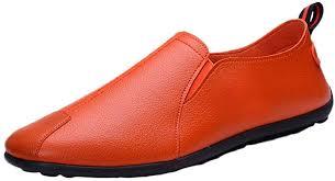 RQWEIN <b>Mens</b> Loafers <b>Flat Shoes</b> Vintage Hand Stitching Comfort ...