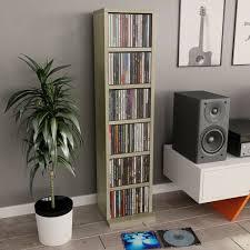 <b>CD Cabinet</b> Sonoma Oak <b>21x20x88</b> cm Chipboard-800354 | in ...