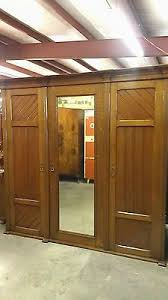 lg antique english country oak wardrobe armoire 2 closets chest drawers shelves ebay antique english pine armoire
