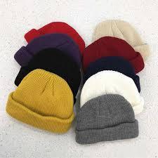 <b>Knit Cap Solid</b> Color Autumn Winter <b>Hat</b> Men Short Head <b>Cap</b> ...