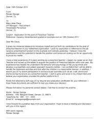 sample pre school teacher cover letter - Template - Template sample pre school teacher cover letter
