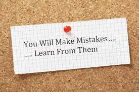 lessons from your first job to apply to your entire career learn from your mistakes corkboard
