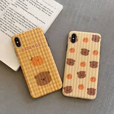 Curved Surface Cute Little <b>Bear Cartoon Silicone</b> Phone Cover For ...
