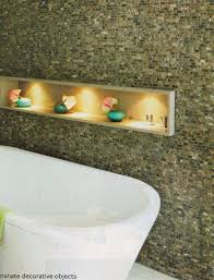 bathroom niches: what about you do you like open shelving or do all those dust collectors bother you