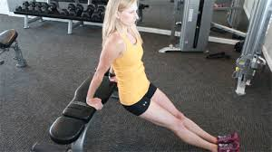 Image result for woman triceps dips