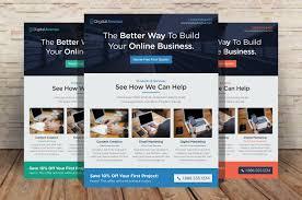 marketing brochure templates set 1 digital agency flyer o