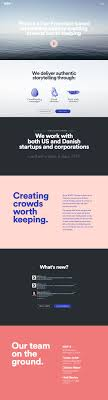 17 best ideas about presentation layout layout clear big typography and good whitespace in this one pager for advertising agency wdp x
