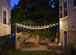 string lights backyard