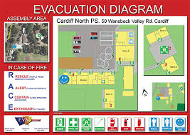 evacuation diagrams   evacuation plans   emergency diagrams australiacardiff north primary school