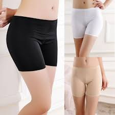 <b>Summer Ice Silk Shorts</b> Ladies Safety Pants Seamless Leggings ...